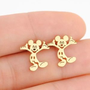 🆕 Gold Mickey Mouse Stud Earrings